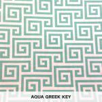 Aqua Greek Key