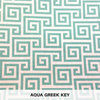 Aqua Greek Key
