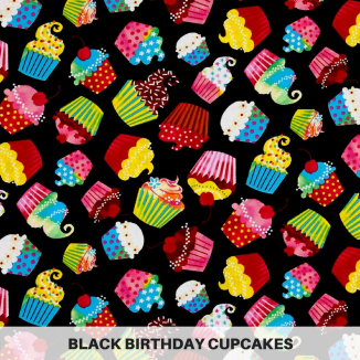 Black Birthday Cupcakes