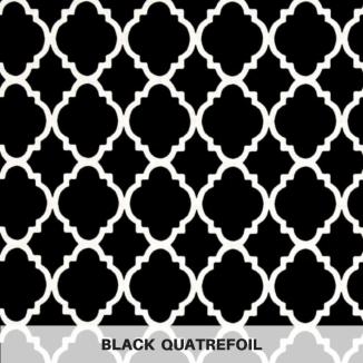 Black Quatrefoil