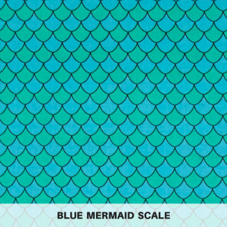 Blue Mermaid Scale