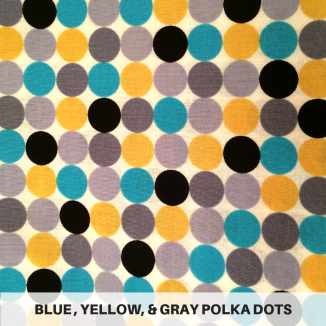 Blue Yellow Gray Polka Dots