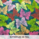 Butterflies on Teal