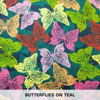 Butterflies on Teal