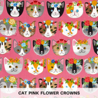 Cat Pink Flower Crowns