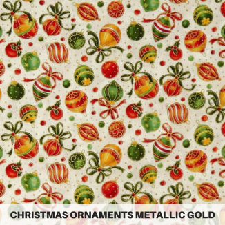 Christmas Ornaments Metallic Gold