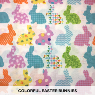 Colorful Easter Bunnies