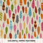 Colorful Hippie Feathers