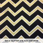 Gold Glitter & Black Chevron