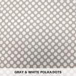 Gray & White Polka Dots