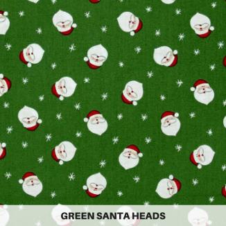 Green Santa Heads