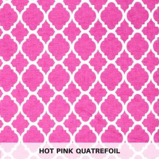 Hot Pink Quatrefoil