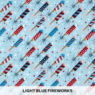 Light Blue Fireworks