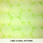 Lime Floral Pattern