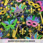 Mardi Gras Masks & Beads