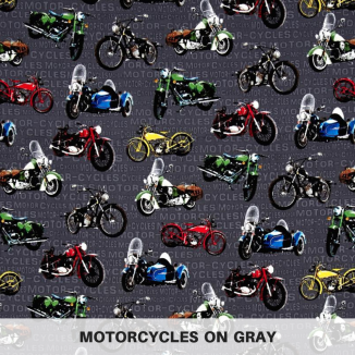 Motorcycles on Gray