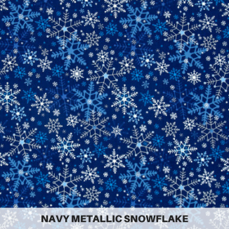 Navy Metallic Snowflake