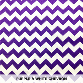 Purple & White Chevron