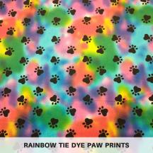 Rainbow Tie Dye Paw Prints