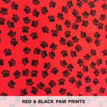 Red & Black Paw Prints