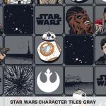 Star Wars Tiles Gray