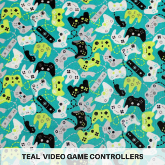Teal Video Game Controllers