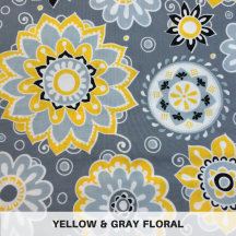 Yellow & Gray Floral