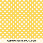 Yellow & White Polka Dots