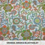 Orange Green Blue Paisley