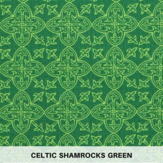 Celtic Shamrocks Green