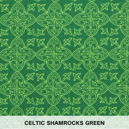 Celtic Shamrocks Green