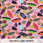 colorful surf boards