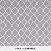 gray quatrefoil