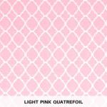 light pink quatrefoil