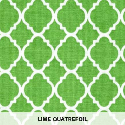 lime quatrefoil