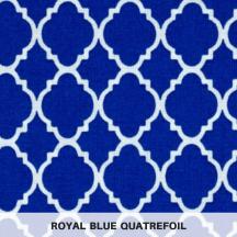 royal blue quatrefoil