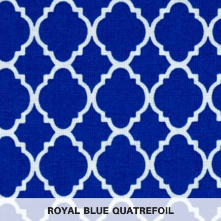 royal blue quatrefoil