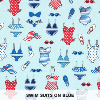 swim suits blue