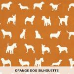 Orange Dog Silhouette