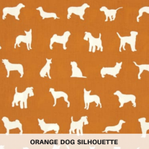 Orange Dog Silhouette
