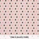 Pink & Black Paws