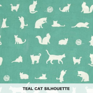 Teal Cat Silhouette