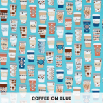 Coffee On Blue