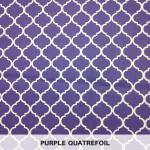 Purple Quatrefoil