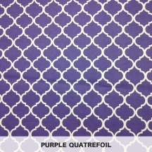 Purple Quatrefoil
