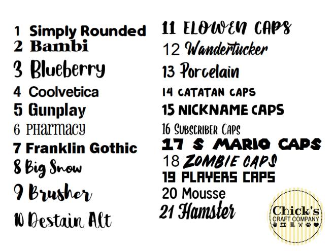 Vinyl Fonts (1)