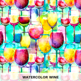Watercolor Wine